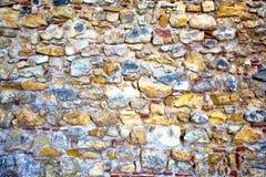 Teil einer Steinwand Hintergrund Stockbild