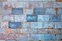 Teil einer Steinwand Hintergrund Lizenzfreies Stockfoto