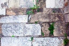 Teil einer Steinwand Hintergrund Stockfotos