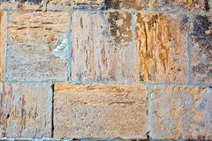 Teil einer Steinwand Hintergrund Lizenzfreies Stockbild