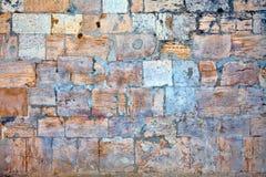 Teil einer Steinwand Hintergrund oder Beschaffenheit Stockbilder