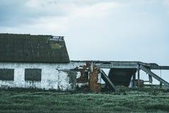 Teil einer verlassenen Scheune Lizenzfreies Stockfoto