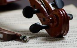 Teil einer Violine Stockbild