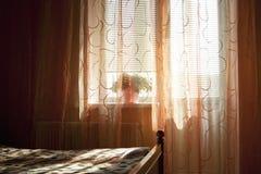 Teil eines schlafenden Raumes Stockfotos