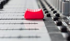 Teil eines stichhaltigen Audiomischers Stockbilder