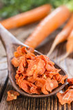 Teil getrocknete Karotten lizenzfreie stockfotos