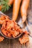Teil getrocknete Karotten stockfoto