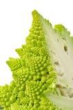 Teil-grüner frischer romanischer Blumenkohl Lizenzfreie Stockfotos