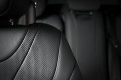 Teil lederne Autositzdetails Lizenzfreies Stockfoto