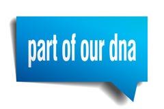 Teil unserer blauen Blase Sprache 3d DNA lizenzfreie abbildung