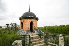 Teil Verstärkungsarbeiten des Schlosses in Dubno ukraine Lizenzfreies Stockbild