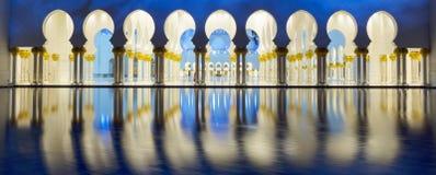 Teil von Abu Dhabi-Moschee Lizenzfreie Stockbilder