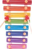 Teil von childs Spielzeug Xylophone Lizenzfreies Stockfoto