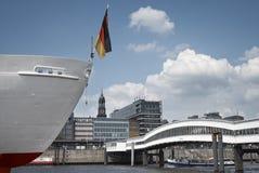 Teil von Hamburg, einschließlich Str. Michael Stockfotografie