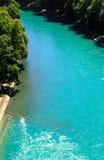 Teil von schönem Fluss in Bern, die Schweiz Stockfotografie