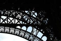 Teile des Eiffelturms Paris Stockbild