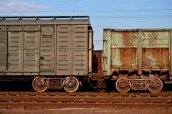 Teile des Fracht Railcar Stockfotografie