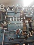 Teile eines Motors in der Werkstatt des Mechanikers in der Universität Stockfoto