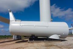 Teile für eine Windkraftanlage für die Landwirtschaft Stockfotografie