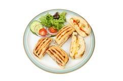 Teile und Salat Panini stockfotografie