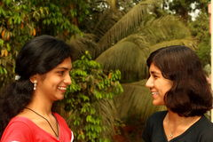 Teilen ihrer glücklichen Momente Lizenzfreies Stockfoto