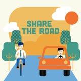 Teilen Sie die Straße lizenzfreie stockbilder