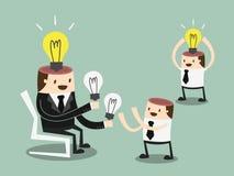 Teilen Sie Ideen lizenzfreie abbildung