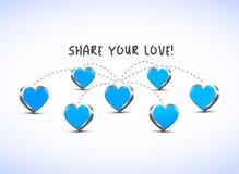 Teilen Sie Ihre Liebe! lizenzfreie abbildung