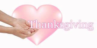 Teilen Sie Ihre Liebe an der Danksagung stockbilder