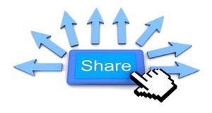 Teilen Sie Konzept Lizenzfreie Stockfotografie