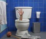 Teilen Sie von der Toilette aus Lizenzfreies Stockbild