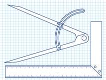 Teiler und Winkel lizenzfreie abbildung