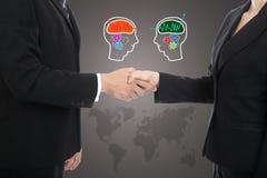 Teilhaber-Erschütterungshand für erfolgreiches Geschäft Lizenzfreie Stockbilder