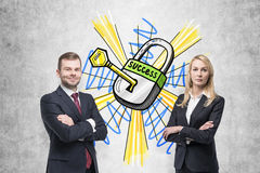 Teilhaber und Schlüssel zum Erfolg Stockbilder