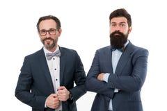 teilhaberschaft Bärtige Männer Partnerschaftszusammenarbeit Reife Mannpartnerschaft Überzeugte Männer Geschäft Moderne Geschäftsm stockbilder