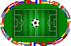 Teilnahmeländer des europäischen Championsh Stockbild
