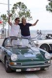 Teilnehmer der Sammlung bereisen Amical in ihrem Auto Ein klassischer Ca Stockfotos