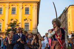 Teilnehmer der Zeremonie ist das Versprechen von ersten Klassen der Highschool Jan.s III Sobieski Stockfotos