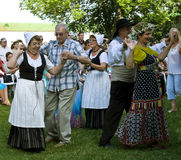 Teilnehmer des Folkloreensembles Lizenzfreies Stockbild