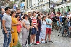 Teilnehmer des kochenden Show Meisterkochs Lizenzfreies Stockbild