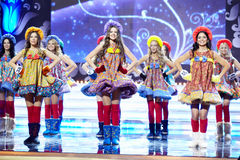 Teilnehmer des Schlusses des 17. nationalen Festivals von Talenten Lizenzfreie Stockfotografie