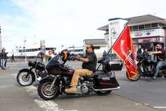 Teilnehmer an die 97. jährliche Veteran ` s Tagesparade lizenzfreies stockfoto