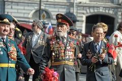 Teilnehmer an die Parade des Sieges im Großen patriotischen Krieg Stockbild