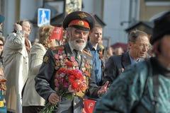 Teilnehmer an die Parade des Sieges im Großen patriotischen Krieg Stockfotos