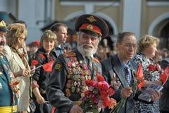 Teilnehmer an die Parade des Sieges im Großen patriotischen Krieg Lizenzfreie Stockbilder
