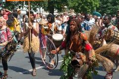 Teilnehmer am Karneval-der Kulturen Lizenzfreies Stockbild