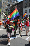 Teilnehmer LGBT Pride Parade an New York City Stockfoto