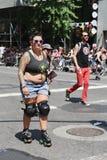 Teilnehmer LGBT Pride Parade an New York City Lizenzfreie Stockfotos