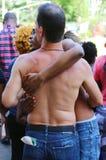 Teilnehmer LGBT Pride Parade an New York City Stockbilder