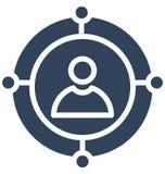Teilnehmer-Marketing lokalisierte Vektorikone, die leicht ändern oder redigieren kann lizenzfreie abbildung